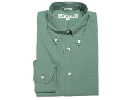 Individualized Shirts Poplin Buttondown Shirt: Sage Green