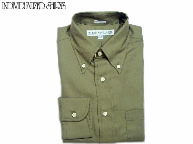 c36119ef66f96 INDIVIDUALIZED SHIRTS(インディビジュアライズド シャツ) L S STANDARD FIT B.D. HERRINGBONE  SHIRTS(ボタンダウンシャツ) olive  送料無料  対応