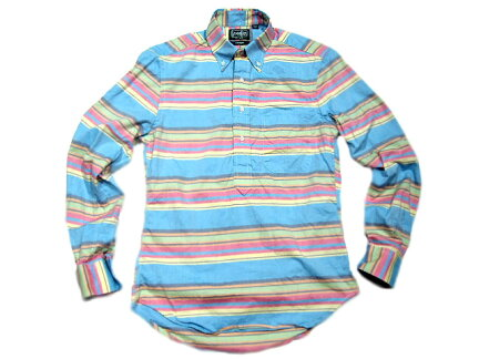Gitman Vintage Pullover Buttondown Shirt: Multi Stripe