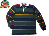 BARBARIAN(バーバリアン)/L/S RUGBY JERSEY/navy x gold x bottle green