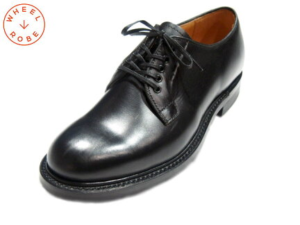 Wheelrobe Plain Toe Blucher 15066: Black
