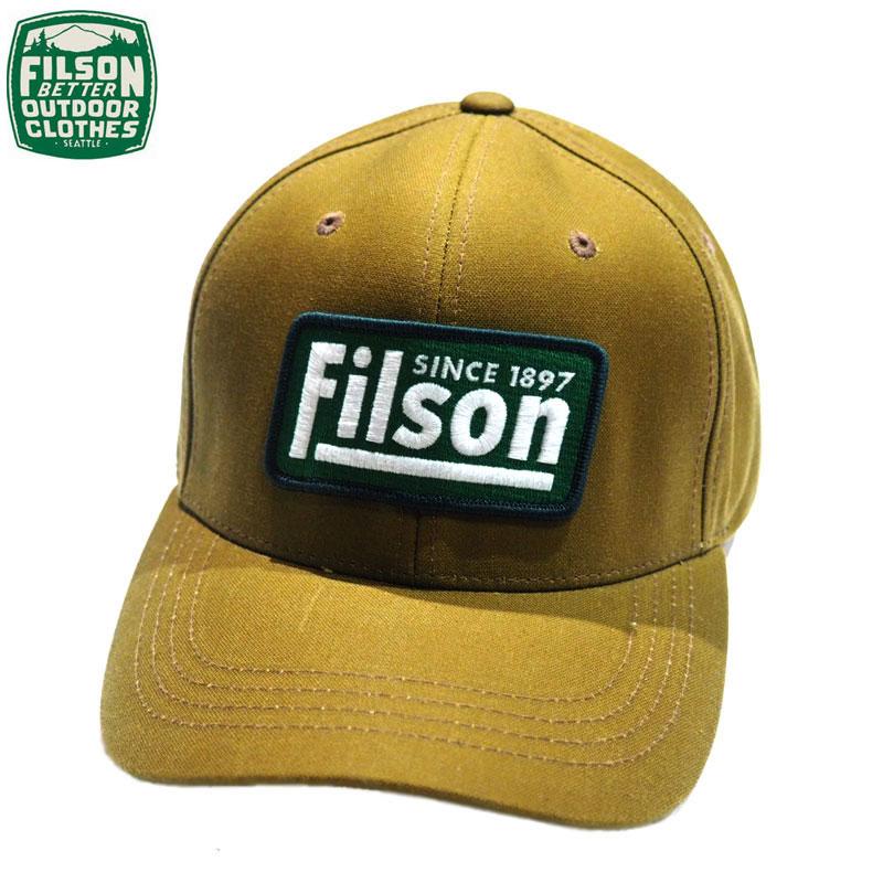 メンズ帽子, キャップ FILSON 80529 OIL TIN LOGGER CAP beige