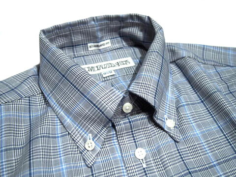 Individualized Shirts Standard Fit Glen Plaid Buttondown Shirt