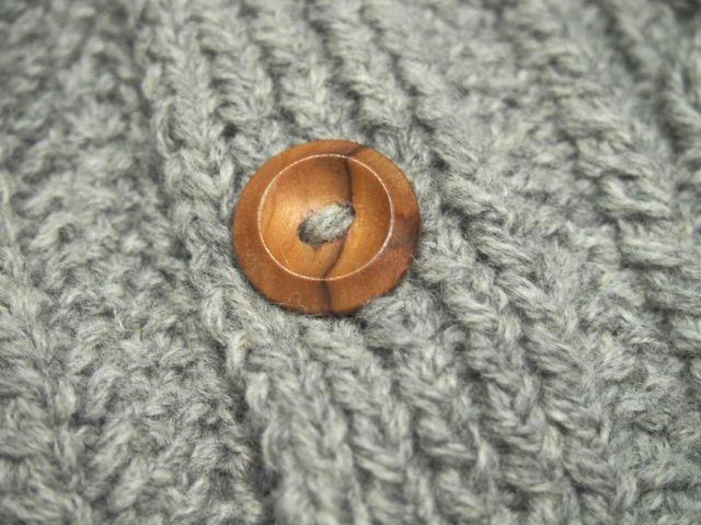 INVERALLAN(インバーアラン)/3A SHETLAND LUMBER CARDIGAN  (ランバーカーディガン)/made in scotland/silver
