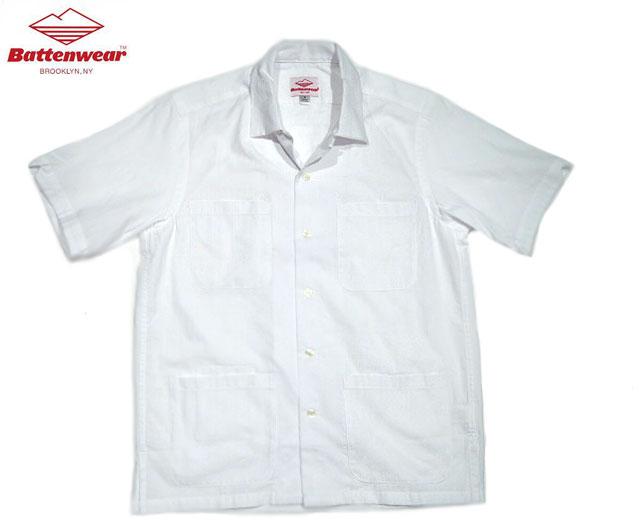 トップス, カジュアルシャツ 30OFFBATTEN WEARFIVE POCKET WOVEN DOBBY ISLAND SHIRTSwhite
