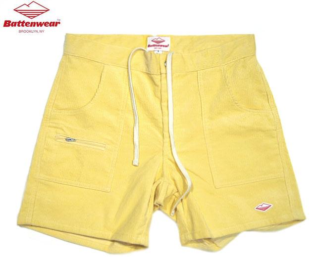 メンズファッション, ズボン・パンツ 30OFFBATTEN WEARCORDUROY LOCAL SHORTSlight yellow