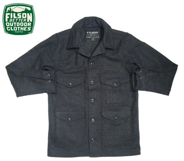 【期間限定30%OFF!】FILSON(フィルソン)/#10043 MACKINAW WOOL CRUISER JACKET(マッキーノ・ウール・クルーザージャケット)/charcoal