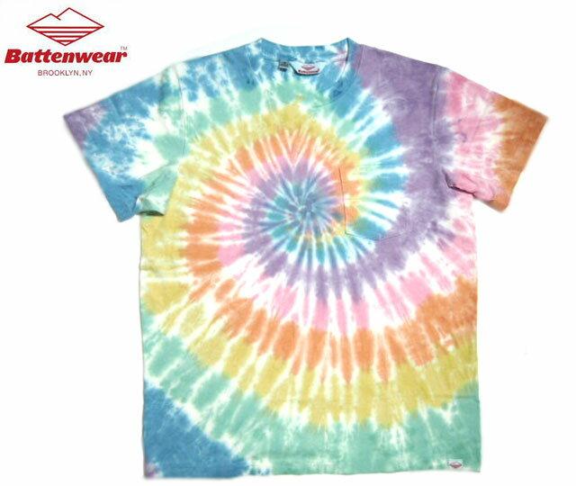 トップス, Tシャツ・カットソー BATTEN WEARSS POCKET TEESpiral Tie Dye
