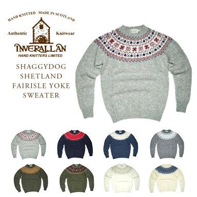 Inverallan Shaggy Dog Shetland Fairisle Yoke Sweater