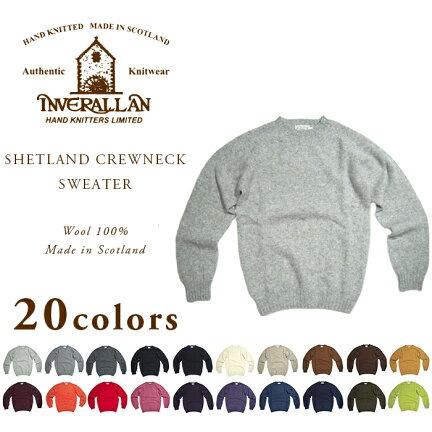 Inverallan Shetland Wool Crewneck Sweater