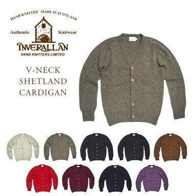 Inverallan Shetland Wool V-neck Cardigan