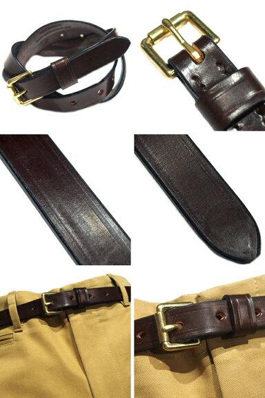 Martin Faizey 3/4 Inch Roller Buckle Light Weight Bridle Leather Belt: Black, Australian Nut