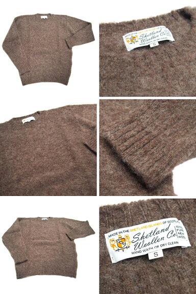 Shetland Woollen Co. Crewneck Shaggy Dog Sweater: Medium Grey