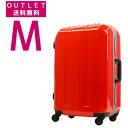 (アウトレット)旅行用かばん 新作 TSAロック搭載 100%ポリカーボネイト 超軽量 中型 スーツケース キャ(6000-58)