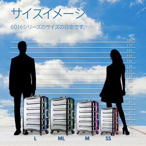 スーツケースSUITCASEアウトレット送料無料TSAロック搭載ポリカーボネート100%鏡面仕上げゴージャスなスーツケースキャリーケース中型MLサイズ5日6日7日(海外旅行」旅行鞄6016-66【RCP】