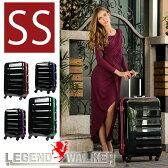 【11584円引き!】スーツケース キャリーケース キャリーバッグ 1年保証 旅行用品 ハードキャリー カラーフレーム ブラック ブルー グリーン ピンク 日乃本キャスター SS サイズ 1日 2日 3日 ハードケース フレーム 機内持ち込み 可 超軽量 鏡面 W-6016-47