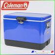 新品未使用 コールマン 54QTスチールベルト クーラー ブルー COLEMAN 3000004390 54-Quart Steel Belted Cooler Blue クーラーボックス BOX