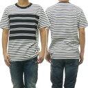 DIESEL ディーゼル メンズクルーネックTシャツ T-WALLACE-STRIPE / 00SMAZ 0EAUR ホワイト /2019春夏新作