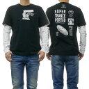 DIESEL ディーゼル メンズクルーネックロングTシャツ T-SHOOT-YA 00SNRB 0091A ブラック /2019春夏新作