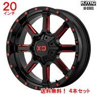 KMCXDシリーズマンモス20x9Jオフセット18mmレッドスポーク