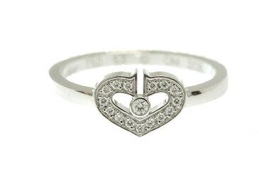 カルティエ Cartier Cハートダイアリング ホワイトゴールド #52 指輪 送料無料 【中古】【トレジャースポット】
