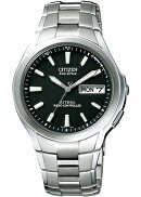 【シチズン】CITIZENソーラー電波腕時計メンズATD53-2792デイ&デイトATTESAアテッサ