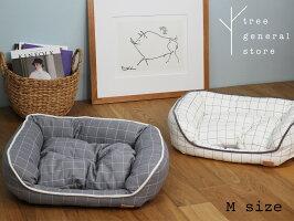 【クリックポスト対応】ベッド小型犬子犬ペットグッズウィンドペングレーホワイトスクエア四角おしゃれかわいいトランクツリー