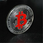 ビットコイン仮想通貨シルバーレッド