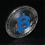 ビットコインブルー青シルバー仮想通貨