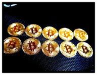 10枚セットゴールドビットコイン仮想通貨金運アップ