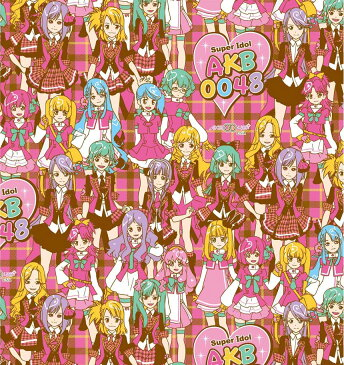 【送料無料】 キャラクター 生地 AKB0048 【オックス/コットン100%】 レッスンバッグやエプロンなどの手づくりグッズに。 布 生地 キャラクター生地 かわいい kawaii cute character fabric, for souvenir, for kindergarten