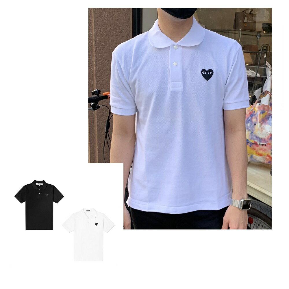 トップス, ポロシャツ 2021(COMME des GARCONS)PLAY AZ-T066 MEN HEART POLO 2021ss