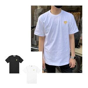 [Rakuten Fashion THE SALE]【2021春夏】コムデギャルソン(COMME des GARCONS)PLAY AZ-T216 Men Gold Heart Tシャツ ゴールドハート メンズ ユニセックス ブランド T-SHIRT ロゴ プレイ【2021ss】