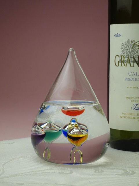 ( ガラスフロート しずくS ) 温度計 ガラス ガラス製 インテリア ガリレオ・ガリレイ【HLS_DU】SSRSSR【P2】