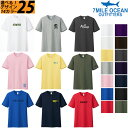 メール便 送料無料 7MILE OCEAN Tシャツ メンズ 半袖 プリント 人気 ブランド ロゴ アメカジ ストリート アウトドア バックプリント S M L XL XXL XXXL 14カラー 25デザイン 大きい ビッグサイズ対応 夏物