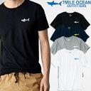 メール便 送料無料 7MILE OCEAN メンズ 半袖 Tシャツ プリント クルーネック ロゴ ワンポイント 無地 ボーダー グレー/黒 ホワイト/グレー 通販限定 S M L XL 大き目 大きい ビッグサイズ対応
