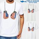 メール便 送料無料 7MILE OCEAN メンズ 半袖 Tシャツ プリント クルーネック ヘビーウェイト ボクシング グローブ 格闘技 USA 白 グレー だまし絵 おもしろ 通販限定 S M L XL XXL 大き目 大きい ビッグサイズ対応