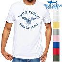 メール便 送料無料 7MILE OCEAN メンズ 半袖 Tシャツ プリント クルーネック 売れてる 人気ブランド ロゴ アメカジ 定番 カレッジ シンプル 白 黒 グレー S M L XL XXL 大きいサイズ 夏物