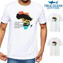 メール便 送料無料 7MILE OCEAN メンズ 半袖 Tシャツ プリント クルーネック 売れてる 人気ブランド 動物 アフリカ メッセージ 名言 自然 白 黒 グレー S M L XL XXL 大きいサイズ 夏物