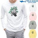 メール便 送料無料 7MILE OCEAN メンズ 長袖 tシャツ ロングTシャツ ロンT オクトパス タコ デザイン おもしろ 人気 ブランド プリント アメカジ ストリート S M L XL XXL 大きいサイズ 秋冬物