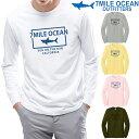メンズ 長袖 tシャツ ロングTシャツ ロンT サメ シャーク マリン プリント ロゴ アメカジ S M L XL XXL 大きい ビッグサイズ対応 秋冬物