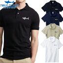 メンズ 半袖 ポロシャツ 無地 ワンポイント サメ シャーク プリント 人気ブランド ロゴ アメカジ 白 黒 グレー ネイビー 鹿の子 S M L XL XXL 大きい ビッグサイズ対応 夏物