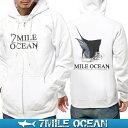 7MILE OCEAN メンズ パーカー フルジップ ジップアップ フ...