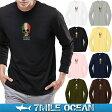 【スマホエントリーでポイント更に10倍】メール便 送料無料 7MILE OCEAN メンズ 長袖 tシャツ ロングTシャツ ロンT 無地 イタリア スカル 人気 プリント ロゴ アメカジ S M L XL XXL 大きい ビッグサイズ対応 秋冬物