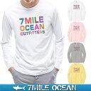 メール便 送料無料 7MILE OCEAN メンズ 長袖 tシャツ ロングTシャツ ロンT カラフル パロディー おもしろ 人気 ブランド プリント ロゴ アメカジ ストリート S M L XL XXL 大きい ビッグサイズ対応 秋冬物
