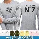 【60%OFF スーパーSALE 期間限定】メール便 送料無料 7MILE OCEAN メンズ 長袖 tシャツ ロングTシャツ ロンT インパクト おもしろ 人気 ブランド プリント ロゴ アメカジ ストリート S M L XL XXL 大きい ビッグサイズ対応 秋冬物
