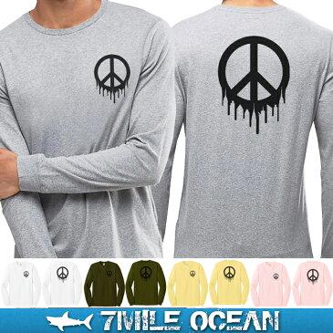 メール便 送料無料 7MILE OCEAN メンズ 長袖 tシャツ ロングTシャツ ロンT インパクト おもしろ 人気 ブランド プリント ロゴ アメカジ ストリート S M L XL XXL 大きい ビッグサイズ対応 秋冬物