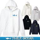 7MILE OCEAN メンズ プルオーバ パーカー ヘビーウェイト ...