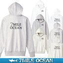7MILE OCEAN メンズ プルオーバ パーカー バックプリント ...