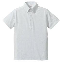 ポロシャツ 半袖 メンズ ボタンダウン ドライ ユーティリティー 5.3oz XL サイズ ホワイト